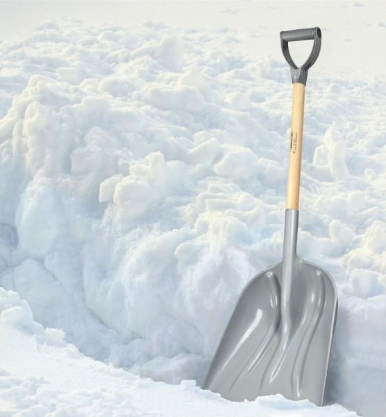 Schneeschaufel aus Kunststoff, mit D-Griff