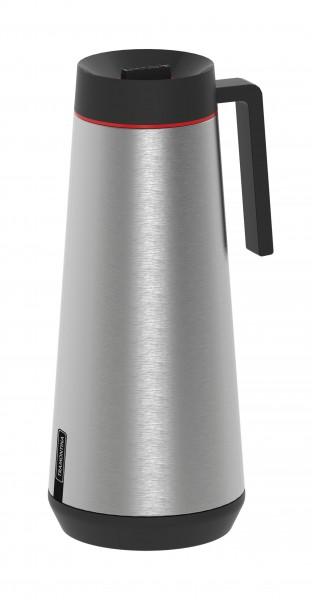 EXATA Pumpthermoskanne, Edelstahl gebürstet - 1,0 Liter