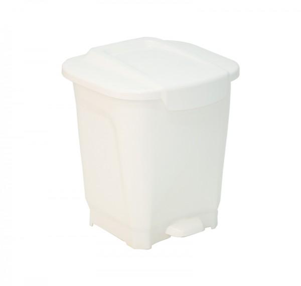 T-FORCE Tretmülleimer, 15 Liter - weiß